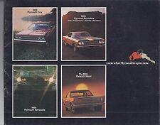 1969 PLYMOUTH FULL LINE SALES BROCHURE ROAD RUNNER BARRACUDA FURY VALIANT
