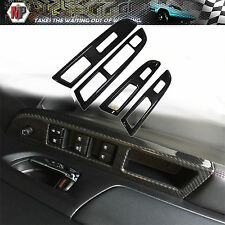 Window Switch Carbon Panel Cover  Dry Carbon 4PCS Fits Subaru WRX  2015 2016 US