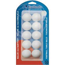 GARLANDO Palline Calciobalilla Standard 33,1mm - 10 pezzi colore BIANCO