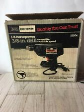 "Vintage Craftsman Sears 3/8"" Corded Electric Drill Model 315.10042"