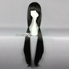 Anime DATE A LIVE Tokisaki Kurumi Black Straight Long Women Cosplay Hair Wig