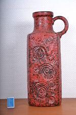 Scheurich Jura red Fat Lava 70er keramic pottery