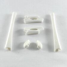 New Walleva White Earsocks/Nosepads For Oakley Flak Jacket