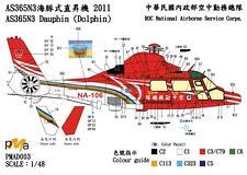 PMA Decal 1/48 Eurocopter SA365 / AS365N3 Dauphin in Taiwan 2011