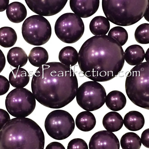 Plum Pearls-No Hole Jumbo and Assorted Sizes for Vase Decorations