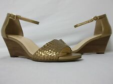 Cole Haan Size 6.5 M Rosalin Gold Open Toe Wedges New Womens Shoes NWOB