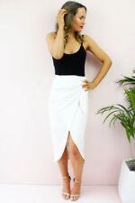 Gonne e minigonne da donna vita alta bianco con fantasia nessuna fantasia