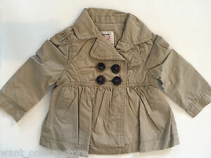 BNWT Old Navy Coat Babydoll Trench Jacket 12 - 18 Months