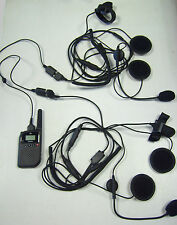 Casco De Motociclista Intercomunicador Kit viene con auriculares & Slimline PMR446 Radio