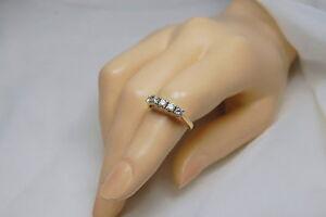 14k yellow Gold Diamond Wedding , Anniversary 5 Stone Band 0.5 ct , Size 7.5