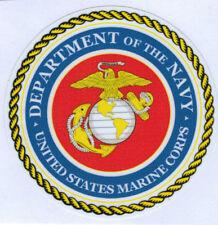 UNITED STATES MARINE CORPS LAMINATED VINYL  DECAL 100MM DIA USMC NAVY