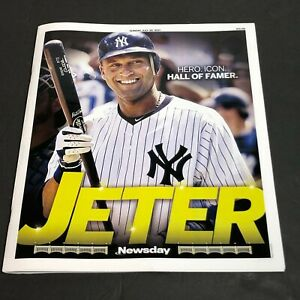 DEREK JETER HALL OF FAMER New York NEWSDAY GLOSSY MAGAZINE 7/25/2021 Yankees