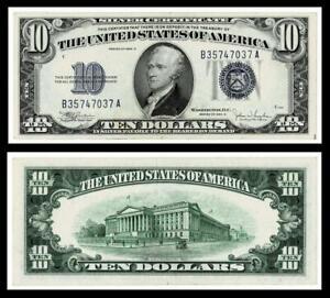 1934-C $10 SILVER CERTIFICATE NOTE~~CRISP~EXTRA FINE