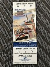 1996 Brickyard 400 Winner Dale Jarrett Signed Ticket Stub NASCAR Indianapolis