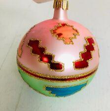 "Early Christopher Radko 3 1/2"" glass ball ornament"