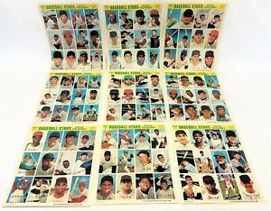 1969 MLBP ASSN Baseball Stars Official Photostamps American League Series 1-9