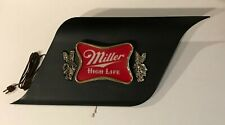 """Miller 26.5"""" Momentum Series Electric Lighted Bar Sign, Wave Shaped, Man Cave"""