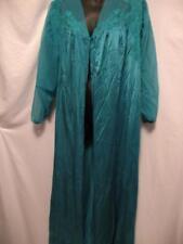 Vintage Green Robe Nylon Henson Kickernick 1950's Button Front Sexy Movie Star