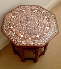 Indian Octagonal Table /side Table/occasional Table Solid Rosewood