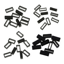 40pcs 18-24mm Rubber Watch Band Strap Holder Keeper Loop Locker Retainer
