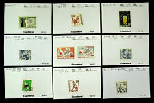 KOREA RED CROSS PLANTS INSECT 10v MINT+ USED STAMPS CV $17