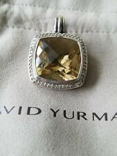 David Yurman Albion pendant with 20mm stone surrounded by diamonds
