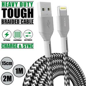 For Phone Charger Cable Lightning USB Data Sync 1M 2M 15CM Charging lead iPad