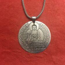 Buddha Shakyamuni Circular Tibetan Buddhist Pendant TIBETAN SIVLER