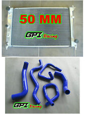50MM Aluminum Radiator &blue hose Ford Falcon BA BF V8 Fairmont XR8 &XR6 Turbo