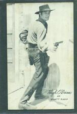 1950'S COWBOY EXHIBIT ARCADE CARD ACTOR HUGH O'BRIEN AS WYATT EARP EX/NM