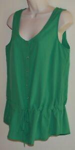 Katies sleeveless green top Size 12