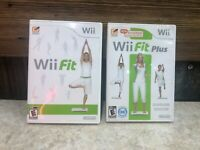 Wii Fit and Wii Fit Plus Nintendo Wii Lot of 2 Games Used Tested No Manuals #*
