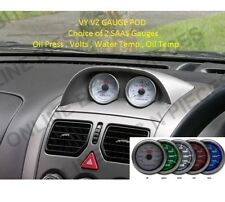 SAAS Twin Gauge Pod + 2 SAAS Gauges Holden VY VZ Commodore SS , HSV , Clubsport