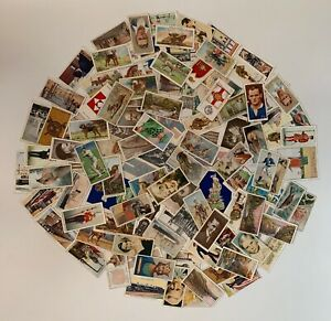 Over 100 mixed genuine pre war cigarette cards lot 4