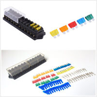 Car Middle-sized 12Way Circuit Blade Fuse Box Block Holder+25X Fuse+25X Terminal
