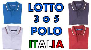 Stock Lotto Pacchetto 3 o 5 Polo Manica Corta 100% Cotone Lavoro Tempo Libero