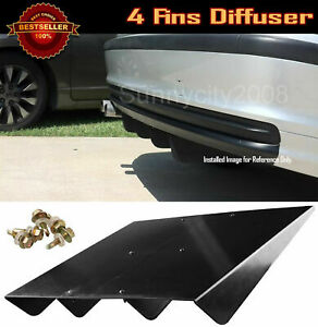 Under Bumper Spoiler Diffuser Splitter Shark Fin Winglet Wing For Toyota Scion