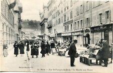 CARTE POSTALE/ NICE RUE SAINT FRANCOIS DE PAULE LE MARCHE AUX FLEURS