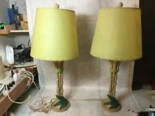 Vtg 1950s Majestic Table Lamp Fiberglass Shades original Earl Chapman hand made
