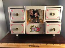 "Vintage Flower Girl Spinning Ballerina ""Love Story"" Jewelry 1970's Music Box"