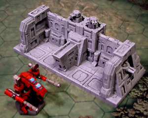 Wargames 6mm / 1/300 Scenery Terrain Building Warhammer Epic 40K - Mech Hanger