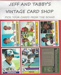 1979 TOPPS BASEBALL  181 TO 360 YOU PICK FROM SCANS