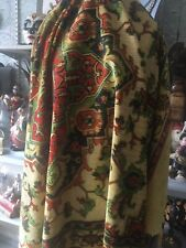 Antique Velvet Chenille Panel Tablecloth Door Curtain Bedcover Bohemian Style