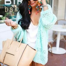 Free People NWT Saturday Morning Cardi Sweater Size M/ L Medium Large New Mint