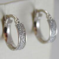Ohrringe aus Weißgold 750 18k Creolen, Durchmesser 1.4 cm, Effekt Glanz