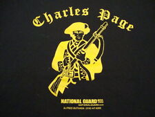 National Guard US Military Combat Charles Page American Black T Shirt XL