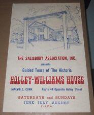 VINTAGE POSTER - HOLLY-WILLIAMS HOUSE TOUR LAKEVILLE CT - SALISBURY ASSOCIATION