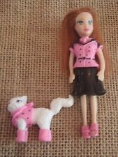 Polly Pocket Doll Girl and Pet Cat Matching Outfits Dresses M58