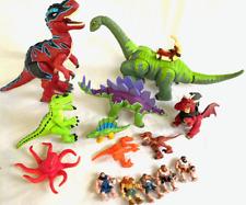Imaginext Dinosaurs T-Rex & Thunder Brontosaurus Cave men figure lot