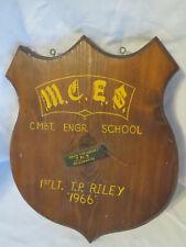Original Vietnam Era 1966 Usmc Mces Plaque Named